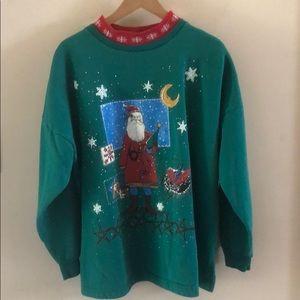 Vintage Ugly Christmas Santa Sweater